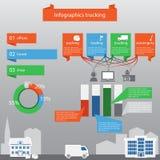 Infographics, das in der flachen Art tauscht Lizenzfreies Stockbild