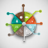 Infographics data pattern of cyclical processes Stock Images