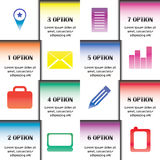 Infographics de bureau Photos libres de droits