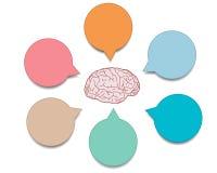 Infographics de cerveau de Vetor Images libres de droits