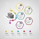 Infographics de chronologie de base de données Photographie stock libre de droits