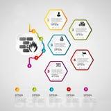 Infographics de chronologie de sécurité Photo stock