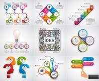Infographics de collection Éléments de conception Infographics pour la bannière de présentations ou d'information d'affaires Photos stock