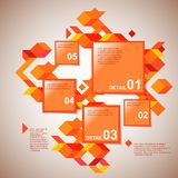 Infographics de color naranja Foto de archivo libre de regalías