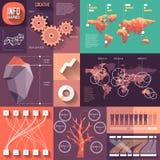 Infographics de conception plate avec de longues ombres Photos libres de droits