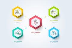 Infographics de diagramme d'organogram de hiérarchie d'affaires corporate illustration de vecteur