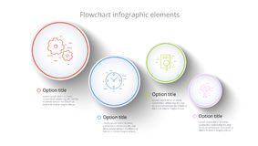 Infographics de diagramme de processus d'affaires avec 4 segments d'étape Circul illustration libre de droits