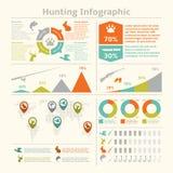 Infographics de la caza Imágenes de archivo libres de regalías