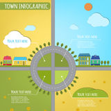 Infographics de la ciudad Imagenes de archivo