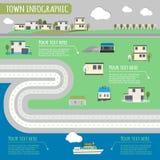 Infographics de la ciudad Foto de archivo libre de regalías