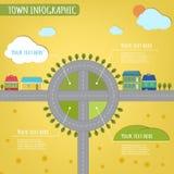 Infographics de la ciudad Fotos de archivo libres de regalías