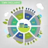 Infographics de la ciudad Fotografía de archivo