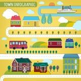 Infographics de la ciudad Imagen de archivo