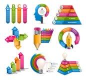Infographics de la colección Elementos del diseño Infographics para la bandera de las presentaciones o de la información del nego ilustración del vector