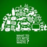 Infographics de la ecología - tratamiento de residuos stock de ilustración