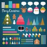Infographics de la Navidad Imagen de archivo libre de regalías