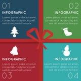 Infographics de la Navidad Fotos de archivo libres de regalías