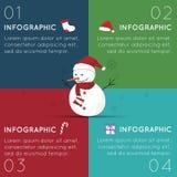 Infographics de la Navidad Fotos de archivo