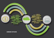 Infographics de la nube Foto de archivo