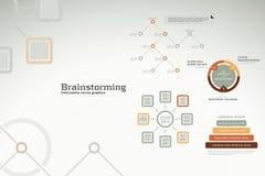 Infographics de la reunión de reflexión - ideas, gráficos, cartas Foto de archivo