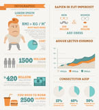 Infographics de la salud Imagenes de archivo