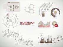 Infographics de la tecnología para el asunto con las cartas ilustración del vector