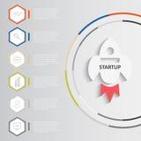 Infographics de lanzamiento del vector stock de ilustración