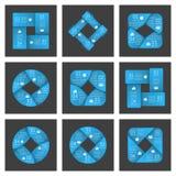 Infographics de las cintas del círculo Imágenes de archivo libres de regalías