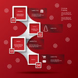 Infographics de las compras de la Navidad Fotografía de archivo libre de regalías