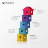 Infographics de las escaleras 3d o plantilla abstracto de la cronología Vector libre illustration