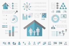 Infographics de las propiedades inmobiliarias Imagenes de archivo
