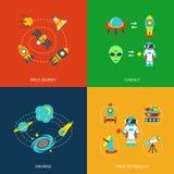 Infographics de los iconos del espacio Foto de archivo