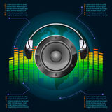 Infographics de musique Photos stock