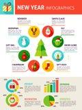 Infographics de nouvelle année Photographie stock libre de droits
