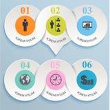 Infographics de papel abstrato. Imagem de Stock Royalty Free