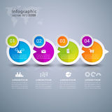 Infographics de papel da bandeira da bolha do círculo Foto de Stock Royalty Free