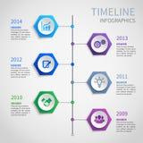 Infographics de papel de la cronología stock de ilustración