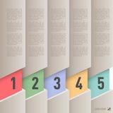Infographics de papel del estilo Foto de archivo libre de regalías
