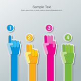 Infographics de papel del número de la mano Fotografía de archivo libre de regalías