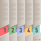 Infographics de papel do estilo Foto de Stock Royalty Free