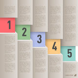 Infographics de papel do estilo Fotografia de Stock Royalty Free
