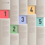 Infographics de papel do estilo Foto de Stock Royalty Free