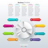 Infographics de papel moderno en un gráfico de sectores para el web, las banderas, las aplicaciones móviles, las disposiciones et libre illustration