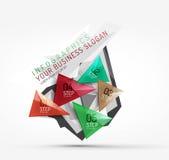 Infographics de papier d'origami polygonal moderne illustration de vecteur