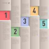 Infographics de papier de style Photo libre de droits