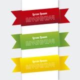 Infographics de rubans Image libre de droits