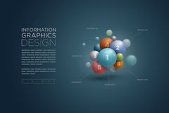 Infographics de sphère Photos stock