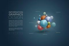 Infographics de sphère Photos stock