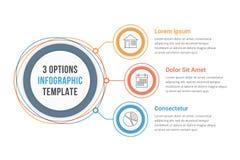 Infographics de trois étapes Photographie stock