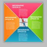 INFOGRAPHICS de vectorillustratie van ontwerpelementen Stock Foto